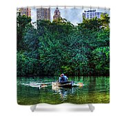 Old Love And Central Park Lake Shower Curtain