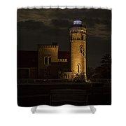 Old Mackinac Point Light, Mackinaw City Mi Shower Curtain