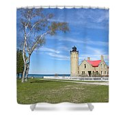 Old Mackinaw Point Light Shower Curtain