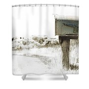 Old Mailbox Shower Curtain
