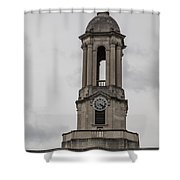 Old Main From Front Clock Shower Curtain