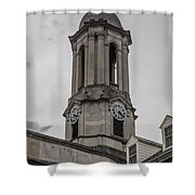 Old Main Penn State Clock  Shower Curtain
