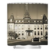 Old Main Sepia Shower Curtain
