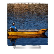 Old Man And His Boat Shower Curtain