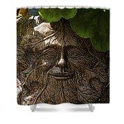 Old Man In The Garden Shower Curtain