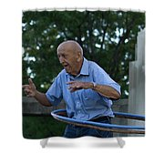 Old Man Keeps The Body Moving Shower Curtain