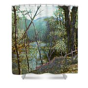 Old Man River Shower Curtain by Ben Kiger