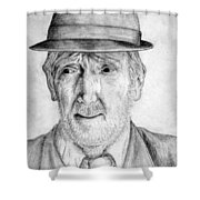 Old Man With Hat Shower Curtain