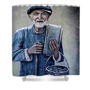 Old Man With His Stones Shower Curtain