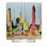 Old Manhattan Shower Curtain