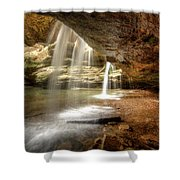 Old Man's Cave Falls Shower Curtain