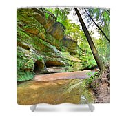 Old Man's Gorge Trail And Caves Hocking Hills Ohio Shower Curtain