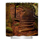 Old Man's Stairs Shower Curtain