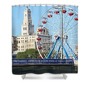 Old Meets New Shower Curtain