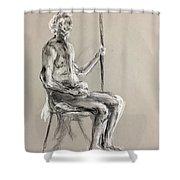 Old Men  Shower Curtain