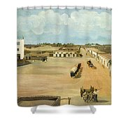 Old Mesilla Plaza Shower Curtain