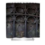 Old Metal Gate Shower Curtain