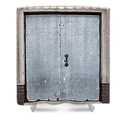 Old Metal Door Shower Curtain
