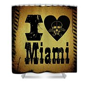 Old Miami Shower Curtain