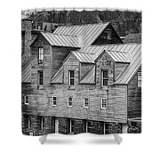 Old Mill Buildings Shower Curtain