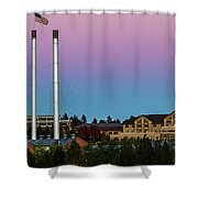 Old Mill District - Bend, Oregon Shower Curtain