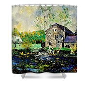Old Mill In April Shower Curtain