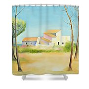 Old Mill In The Algarve Shower Curtain