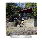 Old Mill Of Guilford Pumphouse Shower Curtain