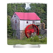Old Mill Of Guilford Squared Shower Curtain