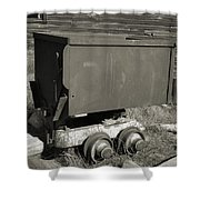 Old Mining Cart Shower Curtain