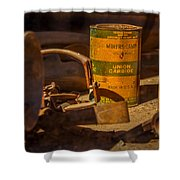 Old Mining Equipment Shower Curtain