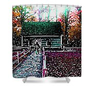 Old Mission Point Cabin Shower Curtain