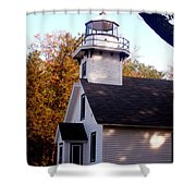 Old Mission Point Light House Shower Curtain
