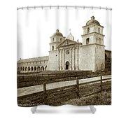 Old Mission Santa Barbara, Cal Circa 1895 Shower Curtain
