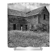Old Montana Farmhouse Shower Curtain