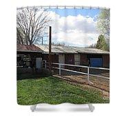 Old Mormon Barn Shower Curtain