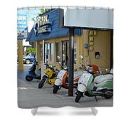 Old Motorcycles Shower Curtain