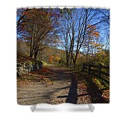 Old Mountain Road Shower Curtain
