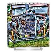 Old Muscle Car Shower Curtain