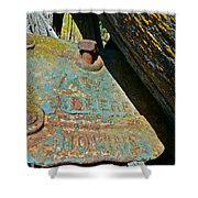 Old Name Plate Shower Curtain