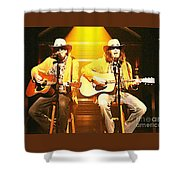 Old Neil And Young Neil Together Shower Curtain