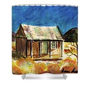 Old New Mexico Cabin Shower Curtain