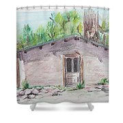 Old New Mexico House Shower Curtain