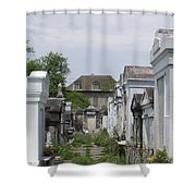 Old New Orleans Cemetery - The Big House  Shower Curtain