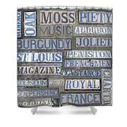Old New Orleans Street Tiles Shower Curtain