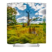 Old Oaks Painterly.  Shower Curtain