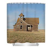 Old One Room School House Shower Curtain