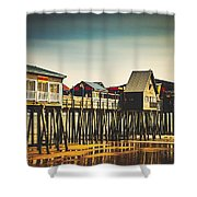 Old Orchard Beach Pier Shower Curtain