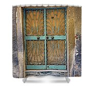 Old Ornate Wrought Iron Door In Venice, Italy  Shower Curtain