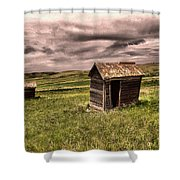 Old Outhouses Shower Curtain